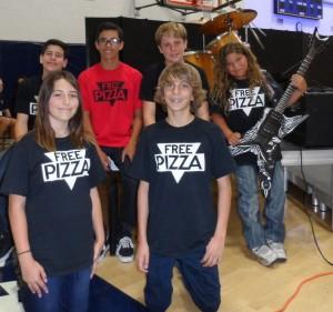 Bottom left, Bella, bottom Right, Trevor, top left to right, Nick, Alex, Connor, Ian