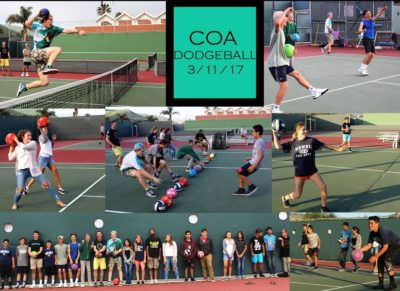 Dodgeball kickoff with TLC and COA