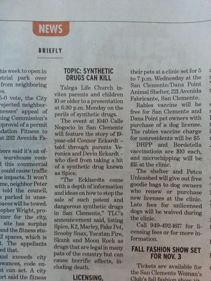 COA - Synthetic drugs can kill