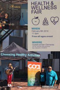COA Performers at Wellness fair